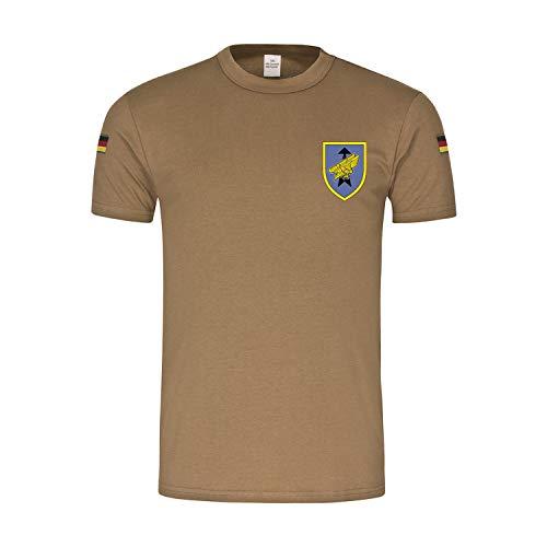 Bw Tropen Luftlandebrigade 31 Deutscher Scharfschütze Bundeswehr T-Shirt#35055, Größe:L, Farbe:Khaki