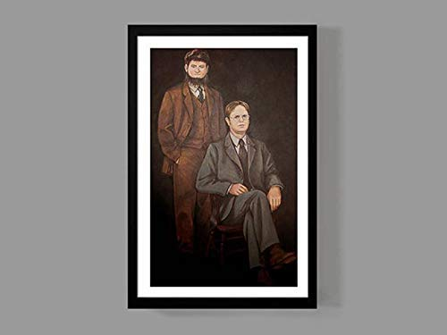 Andreychikovy Dwight Schrute Mose Schrute Portrait Gifts for Lovers Poster [No Framed] Posters Wall Art Print Painting Home Decor Gifts for Lovers Poster