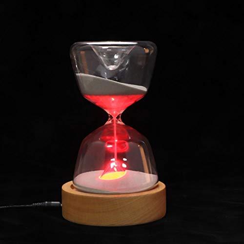 BOTEGRA Reloj de Arena con Temporizador de Arena, Reloj de Arena 2 en 1, Temporizador de Arena de 15 Minutos, LED de 7 Colores para su Amante, para Estudio de Cocina, Trabajo, meditación, Yoga,