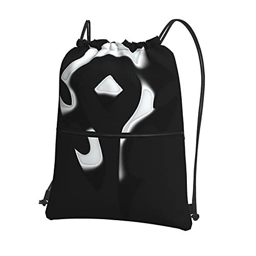W-ORld of W-ar-Craft - Mochila con cordón para gimnasio, impermeable, bolsa de natación, para baloncesto, deportes, gimnasio, con cremallera y bolsillos, bolsa de playa, unisex