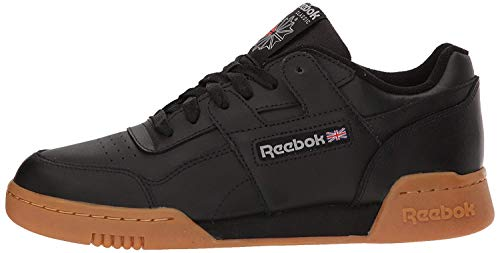 Reebok mens Workout Plus Cross Trainer, Black/Carbon/Classic Red, 9.5 US