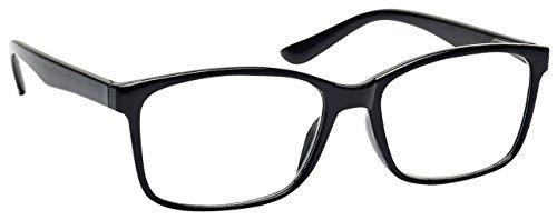 The Reading Glasses Company Gafas De Lectura Negro Lectores Grande Estilo Diseñador Hombres R83-1 +2,50 50 g