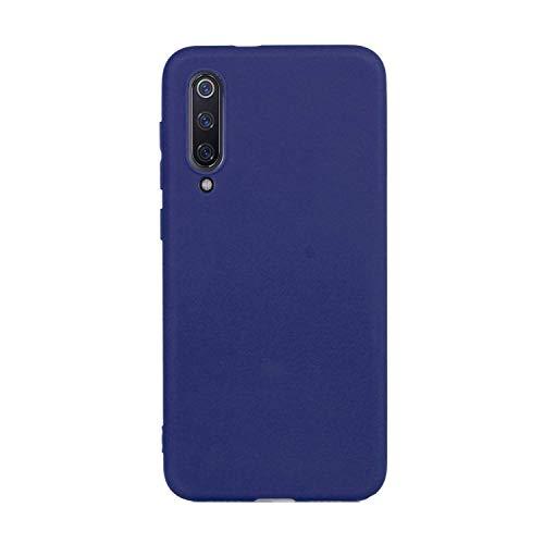 cuzz Custodia Xiaomi Mi 9 SE+{Film di Vetro temperato}Silicone TPU Cover Morbida Protettiva Custodia Ultra Sottile Leggero Cover-Blu Scuro