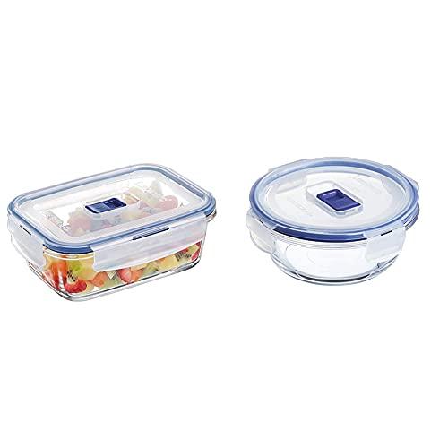 Luminarc 9207680 Pure Box Active Recipiente Hermetico Rectangular, Vidrio, 0,82 L, 16...