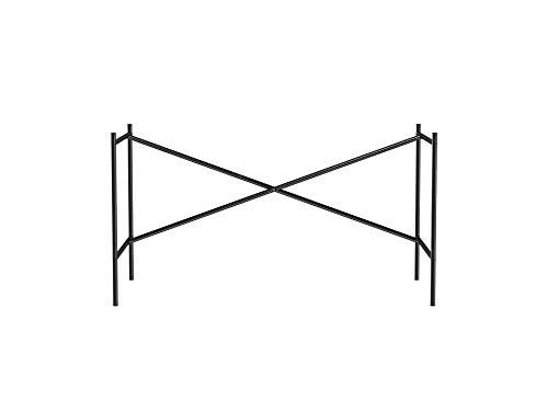 Adam Wieland Tischgestell E2, idealer Arbeitstisch oder Zeichentisch (72 x 70 x 135 cm) mit versetzter Kreuzstrebe, Unterbau ohne Tischplatte für Schreibtisch, schwarz