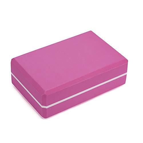 Select Zone EVA Yoga Block Foam Brick Stretching Aid Fitness Shaping Gym Pilates Herramientas de ejercicio (color magenta)