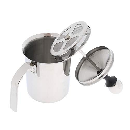 Homyl 1 Stück Milchaufschäumer Manuelle Schaummacher Milch Schäumer Kaffeemühlen Manuelle Kaffeemühlen - 400ml