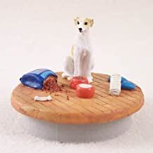 """Conversation Concepts Miniature Whippet Tan & White Candle Topper Tiny One """"A Day at Home"""""""