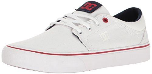 DC Women's Trase TX Skate Shoe Skateboarding, White/Red, 9.5 B US