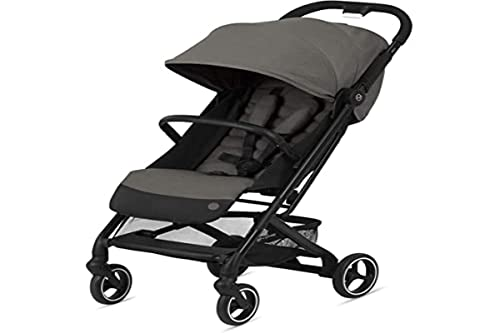 CYBEX Beezy Stroller, Lightweight Baby Stroller, Compact Fold, Compatible with All CYBEX Infant Seats, Stands for Storage, Easy to Carry, Multiple Recline Positions, Travel Stroller, Soho Grey
