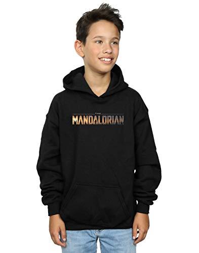 Star Wars Niños The Mandalorian Series Logo Capucha Negro 12-13 Years