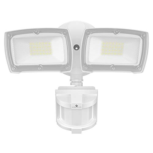 GLORIOUS-LITE LED Security Lights Motion Sensor Outdoor, 28W 3000LM Motion Sensor Flood Light, Motion Sensor Light with 2 Adjustable Heads, 5500K, IP65 Waterproof for Porch Garage Yard