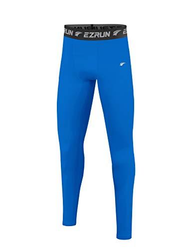 EZRUN Thermo-Strumpfhose für Jungen, mit Fleece gefüttert, Kompressionshose - - XL