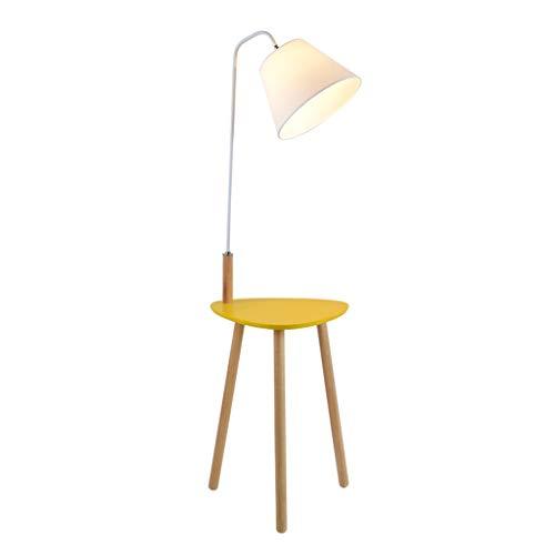 Lampes de chevet Lampadaire Salon Chambre Etude Canapé Table Basse Lampadaire Lampadaire Simple Moderne Américain en Bois Massif (Color : Yellow, Size : 40 * 140cm)