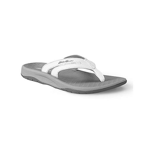 Eddie Bauer Women's Break Point Flip Flop, White Regular 6M