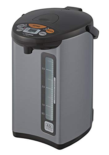 Zojirushi CD-WCC40 Micom Water Boiler & Warmer, Silver (Renewed)