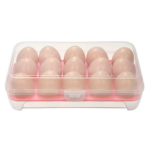 Organizer voor in de keuken, in de koelkast, voor het bewaren van eieren en eieren, met deksel