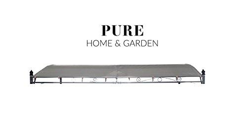 Pure Home & Garden Ersatzdach für Anbaupavillon Latina Natur, ca. 300 x 400 cm, wasserabweisend mit UV-Schutz 40 Plus