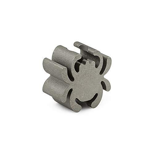 1 pcs Titanium Spider Solid Keyring Knife Jewelry Parachute Cord Paracord Bead Pendant Lanyard