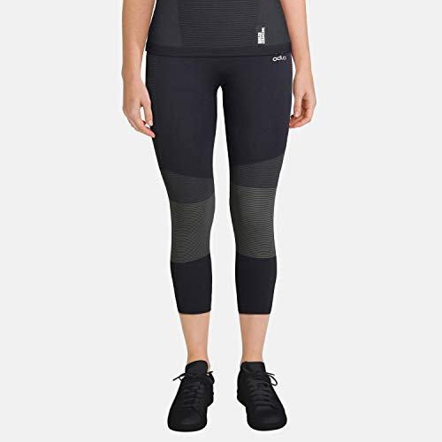 Odlo ZEROWEIGHT CERAMICOOL Pro Collant 7/8 Femme, Black Graphite Grey, FR (Taille Fabricant : XS)