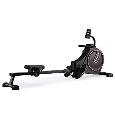 ECHANFIT Magnetic Rower Rowing Machine for Home Use Foldable w/16 Level of Quiet Magnetic Resistance with LCD Monitor and Adjustable Console Angle for Cardio Training ?CRW 4901?