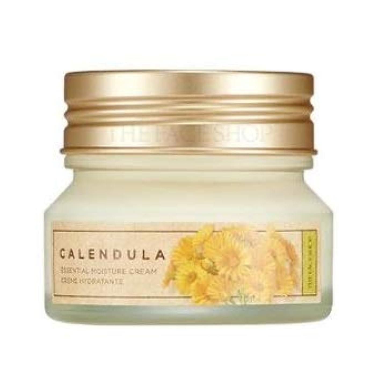 ジャケット台無しにスナックTHE FACE SHOP Calendula Essential Moisture Cream ザフェイスショップ カレンデュラ エッセンシャル モイスチャー クリーム [並行輸入品]