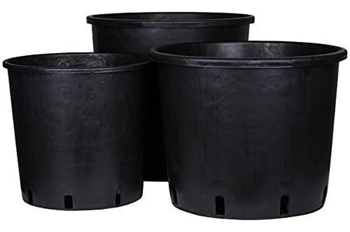 Maceta redonda de plástico de 10 litros - Maceta para plantas Maceta cuadrada para el cultivo de flores