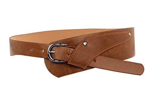 Oyccen Vintage Cinturón Decorativo Mujer Cinturones Ancho Pretina de Hebilla de Aleación para Vestido Jeans
