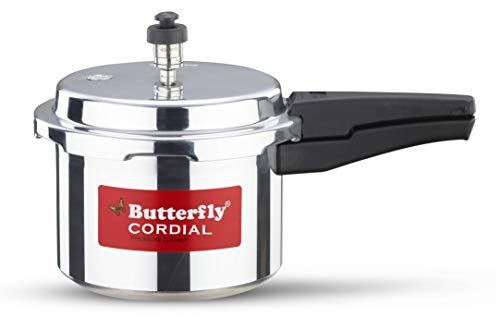 Butterfly Cordial Aluminium Pressure Cooker, 3 litres, Silver
