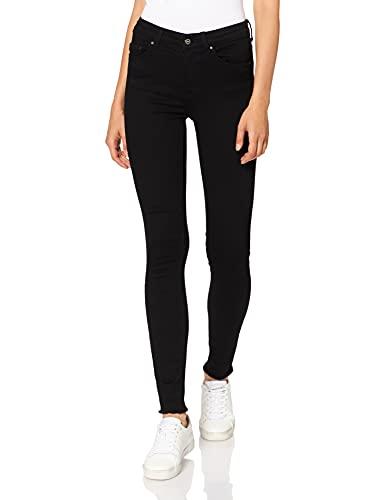ONLY Damen Onlblush Mid Ank Rawjns Rea2343 Noos Skinny Jeans, Schwarz (Black Denim), M 34L EU