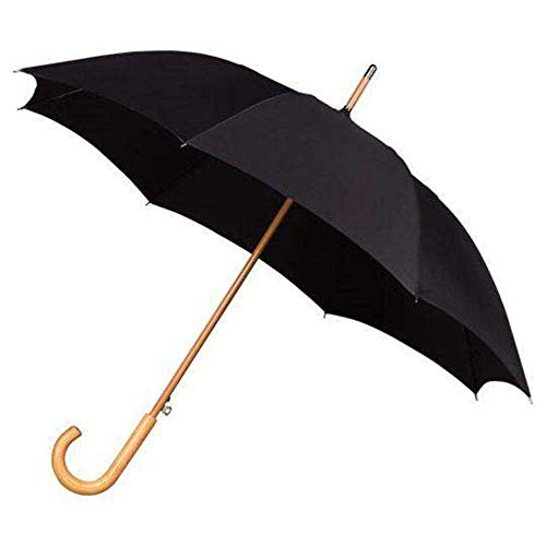IMPLIVA Falcone Regenschirm, 102 cm, Schwarz