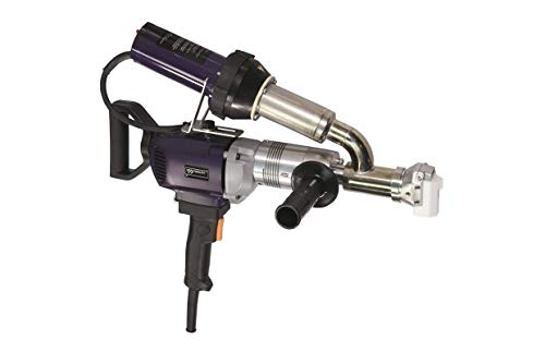 WELDY 3400W Handheld Plastic Extrusion Welding Machine kit Hot Air Plastic Welder Gun Vinyl Weld Extruder Welder Machine (EX2)