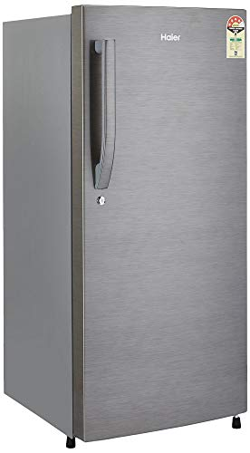 Haier 195L 4 Star Direct Cool Single Door Refrigerator (HED-20FDS, Brushed silver/Dazzle Steel)