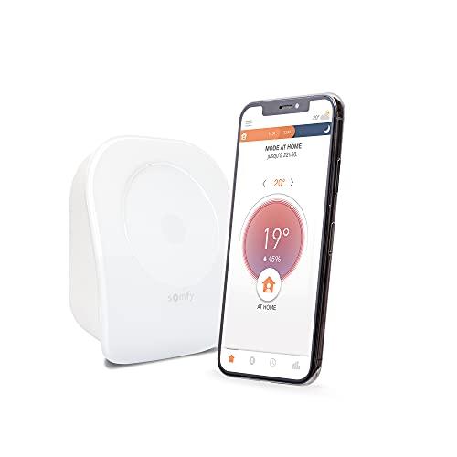 Somfy 1870774 - Termostato collegato con filo V2, per riscaldamento o riscaldamento individuale | contatto secco | compatibile con Amazon Alexa, l'assistente di Google & Spotma