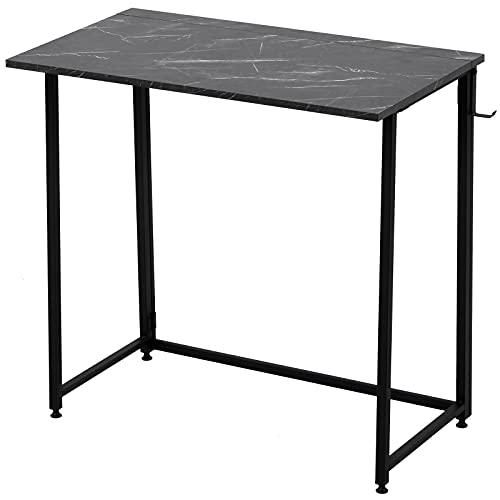 Escritorio plegable para ordenador, compacto y plegable, para el hogar, la oficina, el ordenador portátil, mesa de escritorio simple para el hogar, PC, portátil, mesa de estudio (negro)
