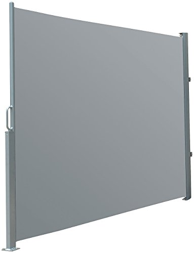 Royal Gardineer Windschutz: Seitenmarkise 120 x 200 cm, anthrazit (Sichtschutz Balkon)