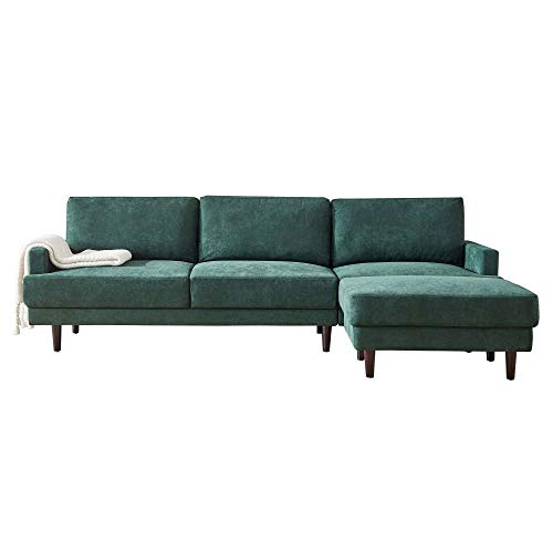 L-Shape Living Room Sofa Set, Mid-Century Modern Bench Loveseat Sofa Modern Small Futon Sofa Couch Single Sofa Chair for Living Room, Bedroom, Office, Apartment, Dorm, Small Space