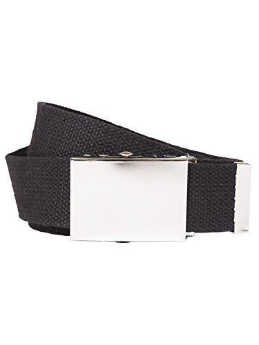 Shenky - Longue ceinture en tissu - L 160 x l 3 cm - noir - 120cm