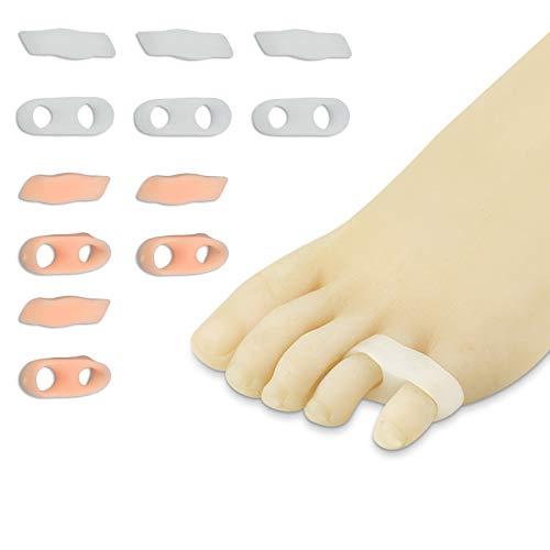 LEZED Separadores de pequeño dedos de gel Corrector de Juanetes Enderezador para pequeño dedo del pie Espaciadores de dedo pequeño del pie para evitar el frotamiento y aliviar la presión 6 Par