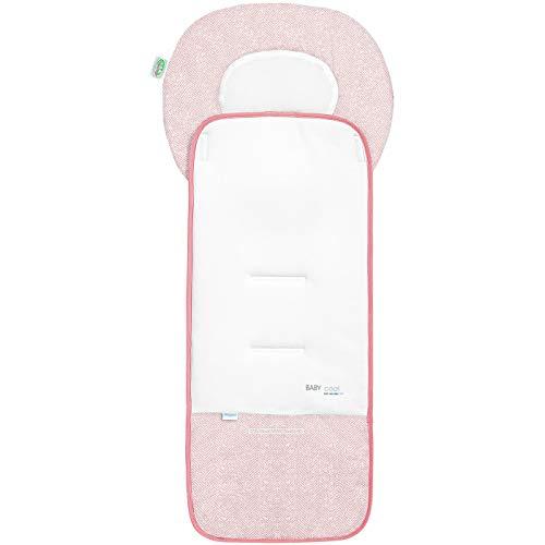 Odenwälder Babycool-Auflage new woven für den Kinderwagen candy pink