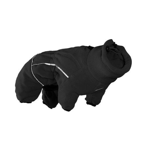 Hurtta Collection Micro-Fleece-Overall für Haustiere, Schwarz, 8
