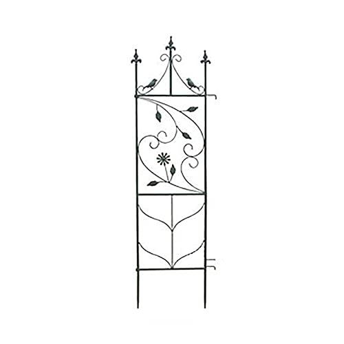 YUNYI Enrejado de Jardín de 47,2 Pulgadas de Alto Enrejado de Plantas de Hierro a Prueba de Herrumbre Enrejado de Jardín Arqueado, Ramas, Pájaros, Jardín, Patio Trasero, Plantas Trepadoras