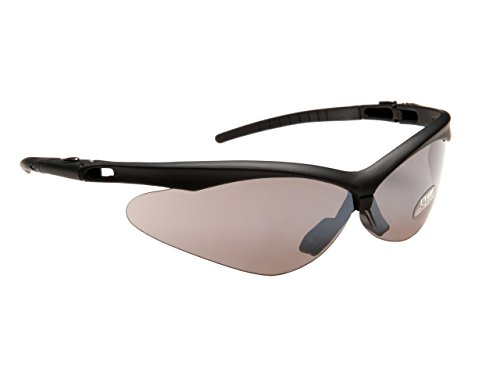 Rayzor professionnel léger UV400 Noir Sport Wrap course Lunettes de soleil, avec un miroir fumé antireflet des verres