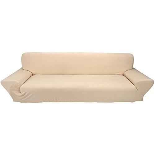 Qqmora Funda de sofá, Funda de sofá elástica elástica para sofá, para Hotel, para Oficina, para niños(Beige)