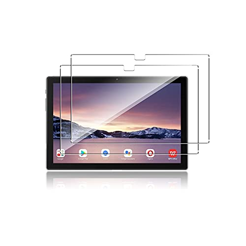 QULLOO para Blackview Tab 8E / Tab 8 / Tab 9 (10.1'') Tablet Protector de Pantalla,[2 Pack] 9H Dureza Vidrio Cristal Templado Protector Film Templado para Blackview TAB8 / Tab 8E -Transparent