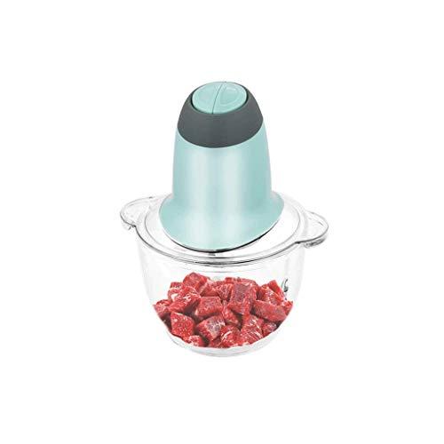 YWSZJ Robot de cocina eléctrica, máquina de picar alimentos de verduras ensalada de frutas Cebolla Ajo con revestimiento de titanio desmontable Láminas andFood de cristal del grado tazón for picar car