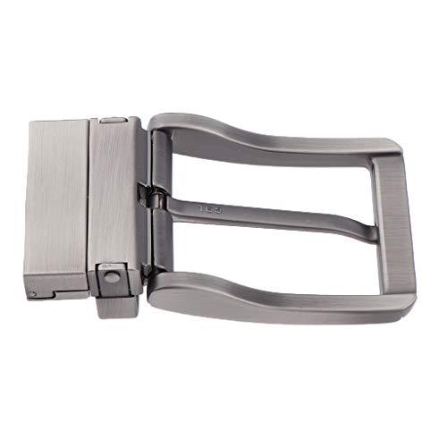 Baoblaze Fibbia Cintura Reversibile Accesserio Uomo per Abiti Casual Vestiti Business Tute - 01