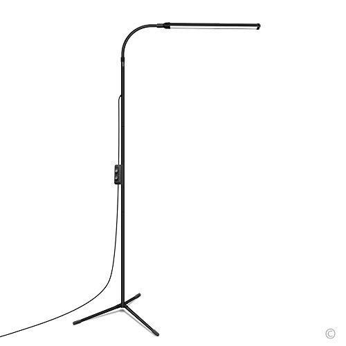 JCOTTON Floor Lamp, LED Floor Lamp Dimmable, Reading Floor lamp for Living Room and Bedroom (Black)