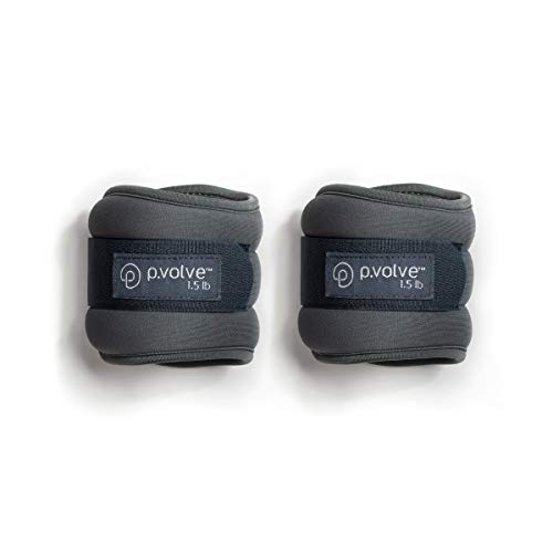 P.volve 1.5lb Ankle Weights for Home Workouts - Gray with Teal