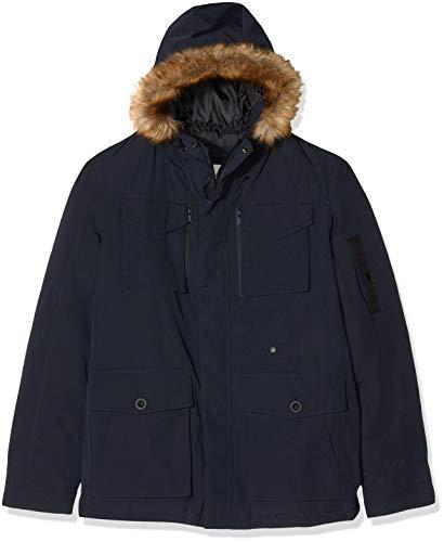 edc by ESPRIT Herren 997CC2G801 Jacke, Blau (Navy 400), Large
